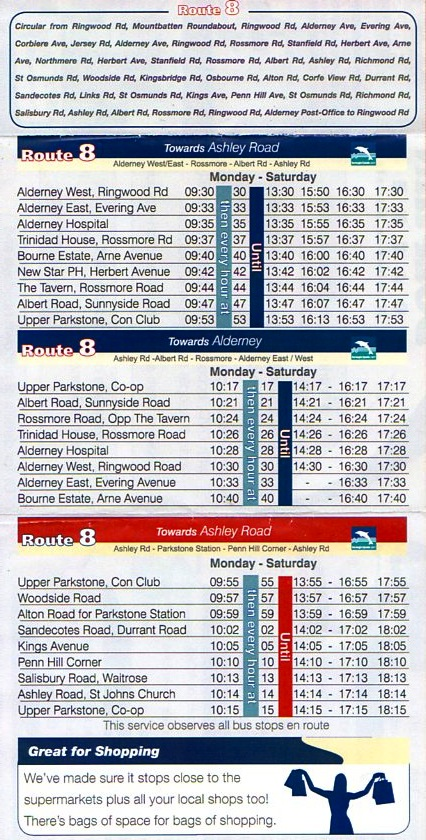 new 2010 timetable