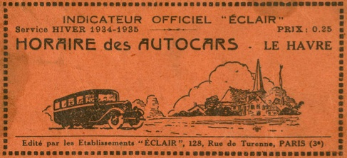cover eclair timetable booklet 1934