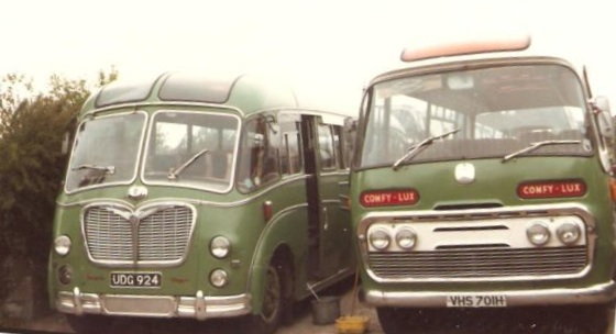 vehicles parked at Cattistock