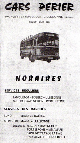 Perier timetable cover 1970s