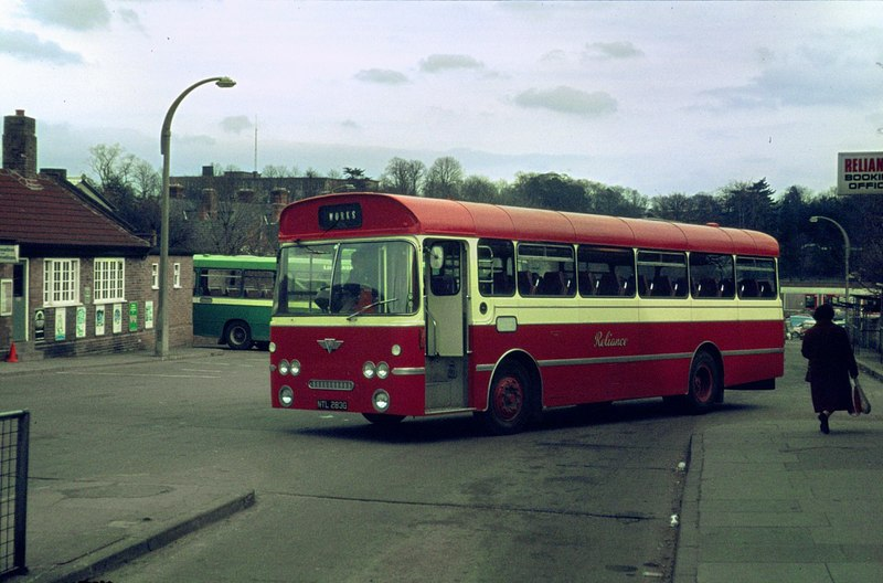 Grantham old bus station in 1979