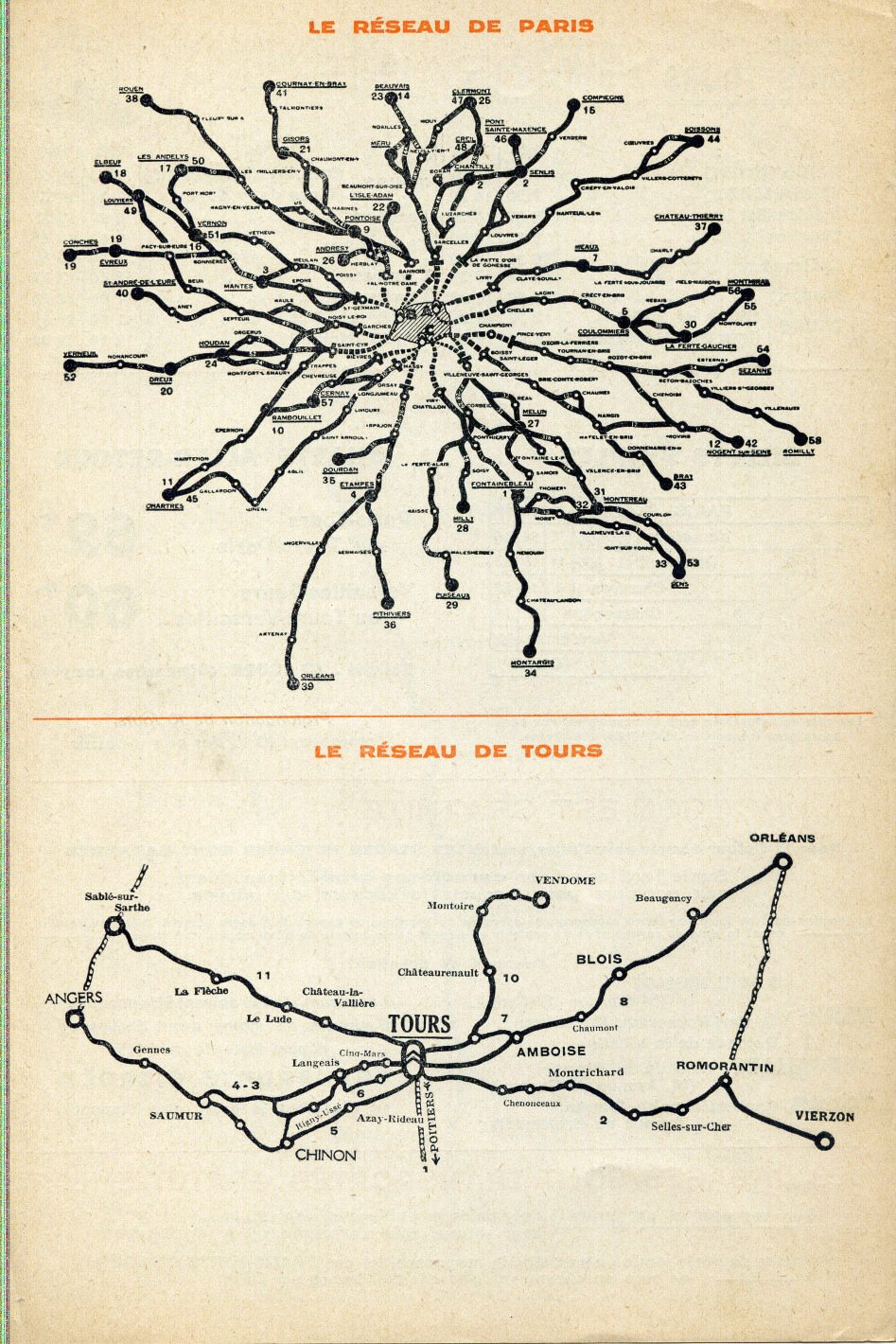 1933 Transports Citroen maps Tours and Paris