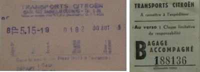 citroen tickets billets