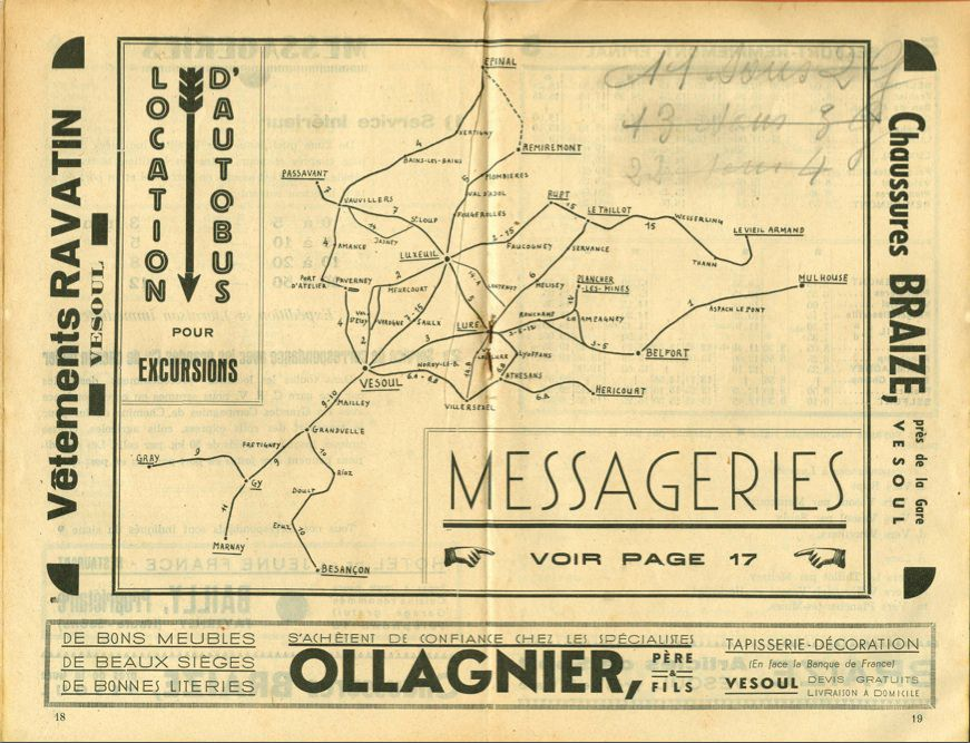 Map TC Vesoul network 1938