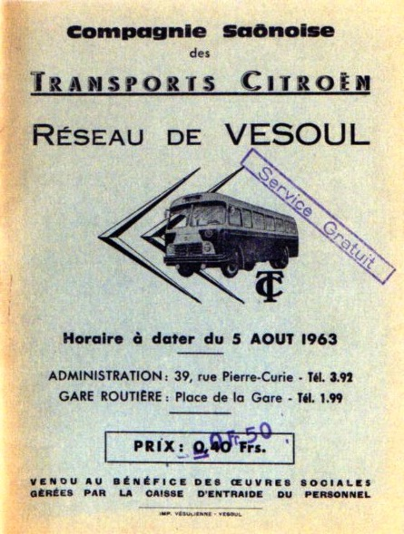 cover vesoul timetable 1963