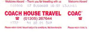coach house travel ticket