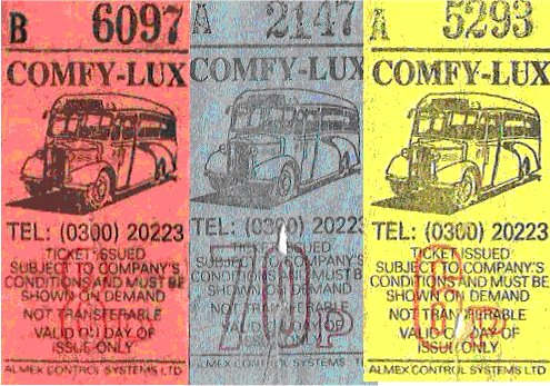 three ComfyLux tickets