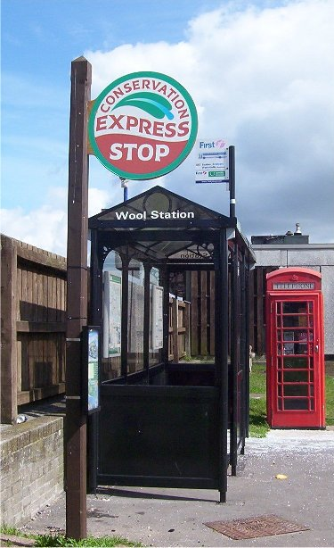 conservation express bus stop sign