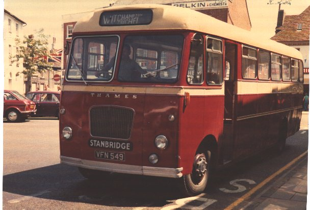 vfn549 in Wimborne Square 1977