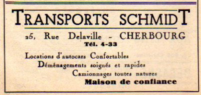 advertisement from 1950 Cherbourg guide