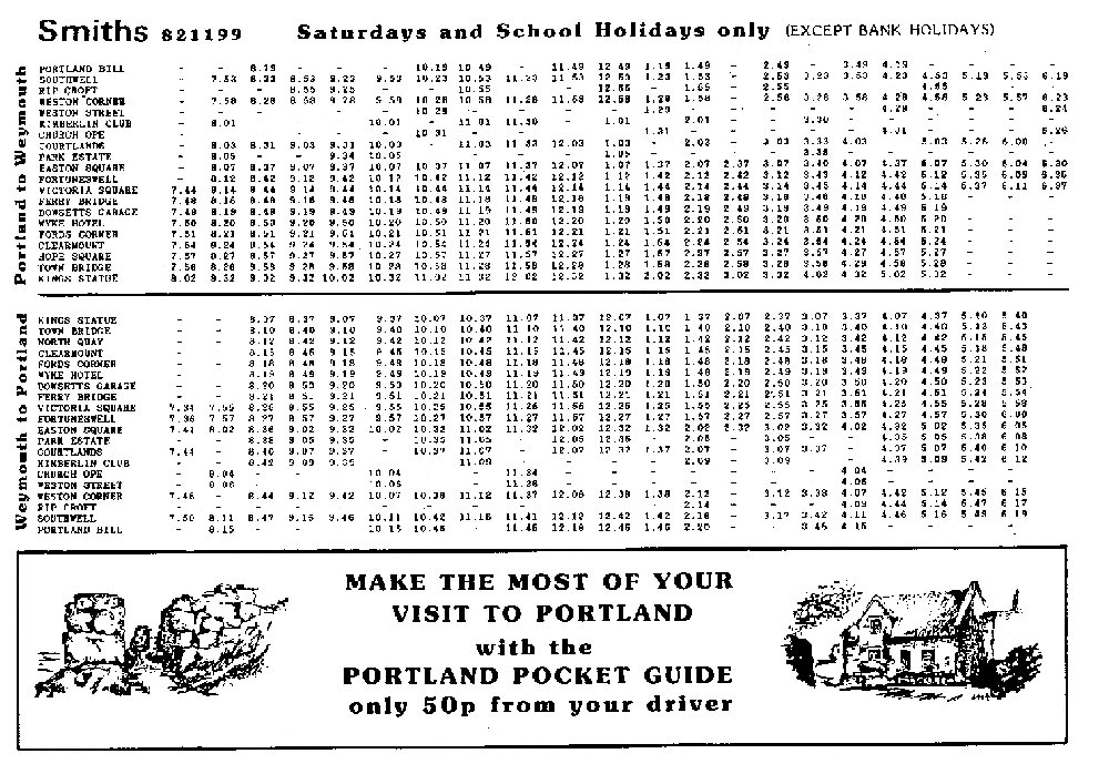 1988 timetable