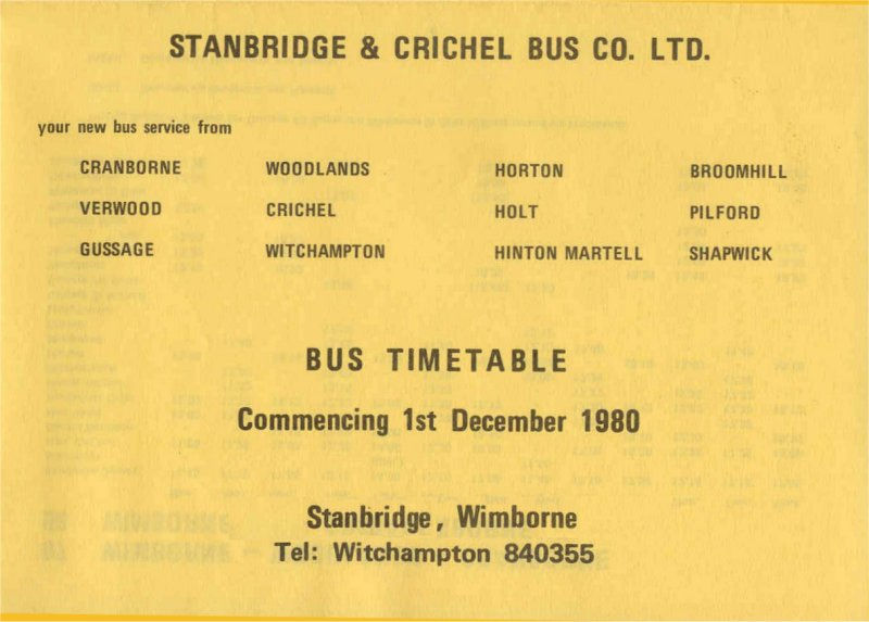 six pages from the December 1980 timetable
