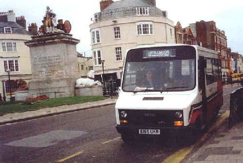 E155UKR at Kings Statue, Weymouth